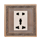 BS Hotel Socket with Forged Brass Cover