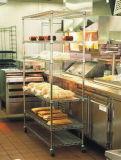 Supermarket Shop Restaurant Chrome Metal Bread Wire Rack, Adjustable Shelf Height