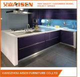 Commercial Kitchen Furniture Bakery Painted Kitchen Cupboards in Showroom