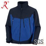Outdoor Fleece Brushed Collar Lining Softshell Jacket (QF-479)