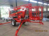 Telescopic Trailer Boom Lift with CE
