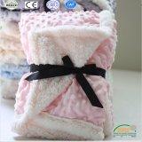 3D Embossed Pink DOT Design Popular Baby Blanket in Super Soft Long Fleece