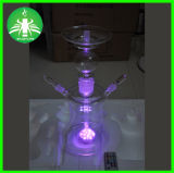 LED Russian Glass Hookah with Colors Changing LED