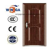 Popular Europ Style Entrance Metal Security Steel Door (W-S-122)