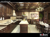 2015welbom Traditional Wallnut Kitchen Cabinet with Island