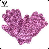 Women′s Fashion Microfiber Jacquard Knit Cold Proof Glove
