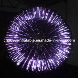 Purple Shining Inflatable Roller Zorb Ball for Grass Sports Game
