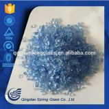 3.0 - 4.0 mm Blue Crushed Glass Particles