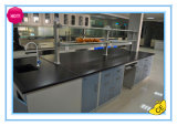 Steel Lab Island Bench with Hanging Cabinets