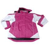 Women′s Polyester Waterproof Winter Parka Outdoor Workwear Apparel Jacket (IC24)
