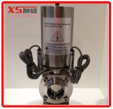 Stainless Steel Sanitary Pneumatic Butterfly Valves with Sensor Position (Air to Air)
