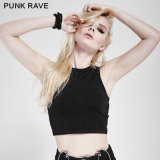 PT-097 Punk Rave Rock & Roll Dark Cross Two Wear Minimalist Joker Short Vest