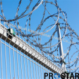 High Tensile Concertina Wire in Galvanized and PVC Coated