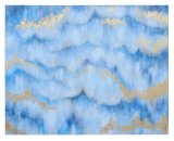 Hand Painted Blue Sky Oil Painting Abstract Wall Art on Canvas (LH-P17008)