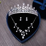 Wedding Crown Bride Necklace Women Earring