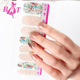 2017 New Glitter Adhesive Nail Art, Nail Art Sticker