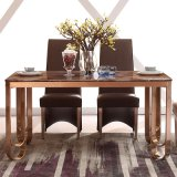 6 People Marble Top Gold Dining Table (LT2012)