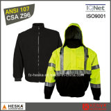Safety Wear Bomber Jacket Mens Hi Vis 3 in I Jacket