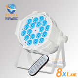 Rasha 200W High Quality 6in1 Rgbaw UV V18 LED PAR Light Stage PAR Can with IR Remote Control for Stage Studio Light