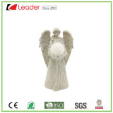 Polyresin Hot Sale Angel Figurine with LED Solar Lights for Garden Decoration