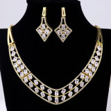 2016 China Wholesale Fashion Brass 18k Gold Jewelry Sets