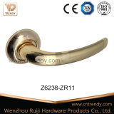 Gold Color Aluminum Door Lever Handle on Escutcheon (AL224-zr11)