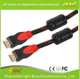 Gold Plug 1080P HDMI Cable with Double Ferrite Cores
