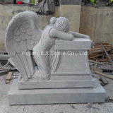 American Carved Weeping Angel Design Granite Monument