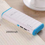 Factory Supply 20000mAh Big Capacity 2 USB Power Bank for Smartphone