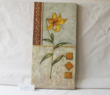 Yellow Lily Pattern Home Decorative Canvas Hanging Painting