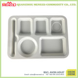 School Canteen Use Non-Toxic Plastic Food Trays with Compartments