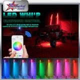 Smart Phone APP Control LED Whip, 3 Feet, 4feet, 5feet, 6 Feet Long LED Antenna Light for ATV UTV Cars Pole Light
