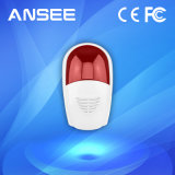 Wireless Siren Alarm with Red Flash Strobe Light