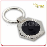 Promotional Cheap Blank Shiny Nickel Metal Keyring