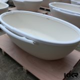 Beige Color Hotel Furniture Bathroom Freestanding Bathtub