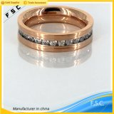 Latest Rose Gold Charm Jewelry Simple Design Ring for Women