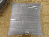 Shutter Pleats Solid Grey Square Pleats Pillow