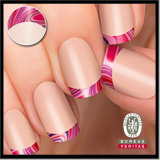 Berry Swirl French Design Tips Nail Art Sticker