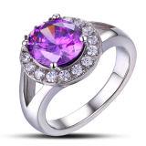 Cubic Zonicnia Purple Wedding Engagement Ring