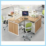 High Quality Cheap Office Counter Table T Shape Workstation for 4 People