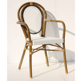 French Rattan/Wicker Leisure Arm Chair with Bamboo Painting (TC-08035)