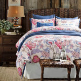 Printed Cotton Home Textile Bedsheet Duvet Cover Bedding Set