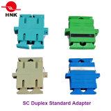 Sc Duplex Standard Plastic Fiber Optic Adapter