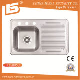 Cupc Stainless Steel Sink of Kts8050, Kitchen Sink with Drainboard