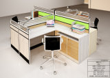 2015 New Wood Office Desk Connect by Double Steel Support Office Furniture