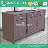 Rattan Cabinet with Drawer Synthetic Wicker Cupboard Home Furniture