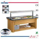 Opening Marble and Wood Refrigerated Salad Bar