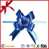 Blue Metallic Ribbon Pull Bow Bright for Christmas Decoration
