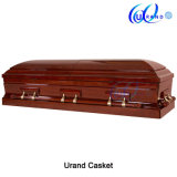 Mahogany Finishing High Gloss Velvet Imported Casket and Coffin