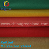 Polyester Cotton Knitted Mercerized Velvet for Woman Cloth (GLLSGR001)